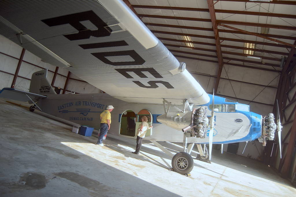 Eastern Air Lines' first commercial plane visiting Lawrenceville