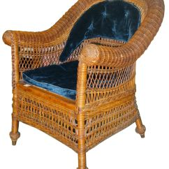 Antique Wicker Chairs Chair Covers Light Grey Jean Mcclelland Can Be Identified By Their Wood Frames