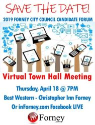 virtual meeting town hall inforney forney local sms whatsapp save email print
