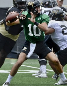 Wakepractice also breaking down wake forest   first depth chart of the season rh journalnow