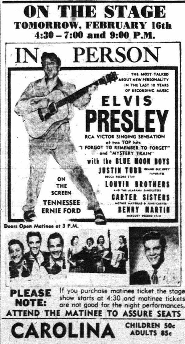 1956 Elvis ad