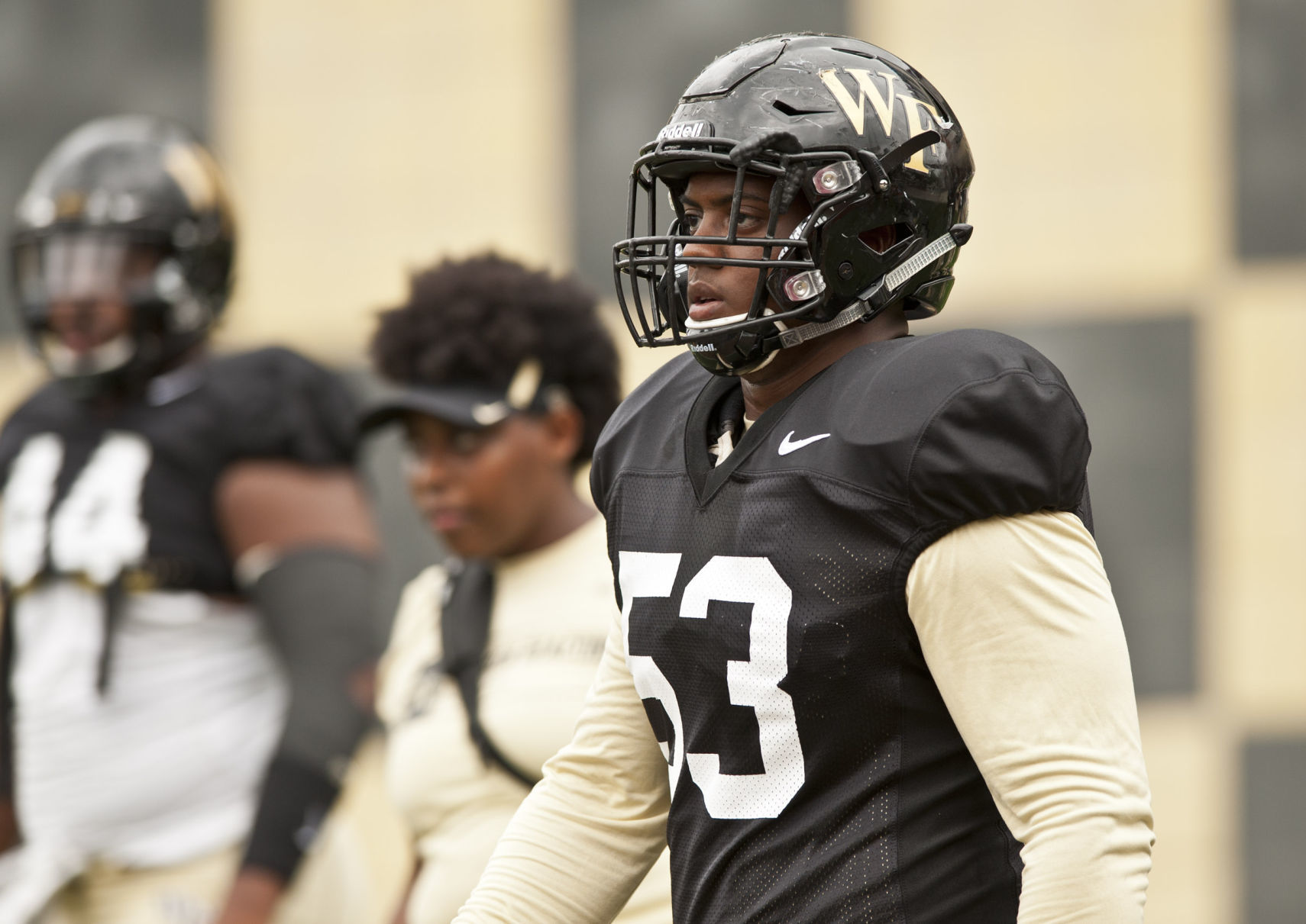 Wake forest scrimmage also breaking down   first depth chart of the season rh journalnow