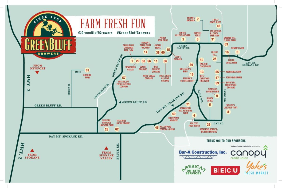 Map Green Printable Grower Bluff Farms
