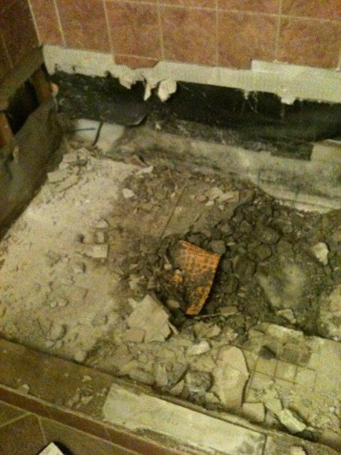 how to concrete shower base repair