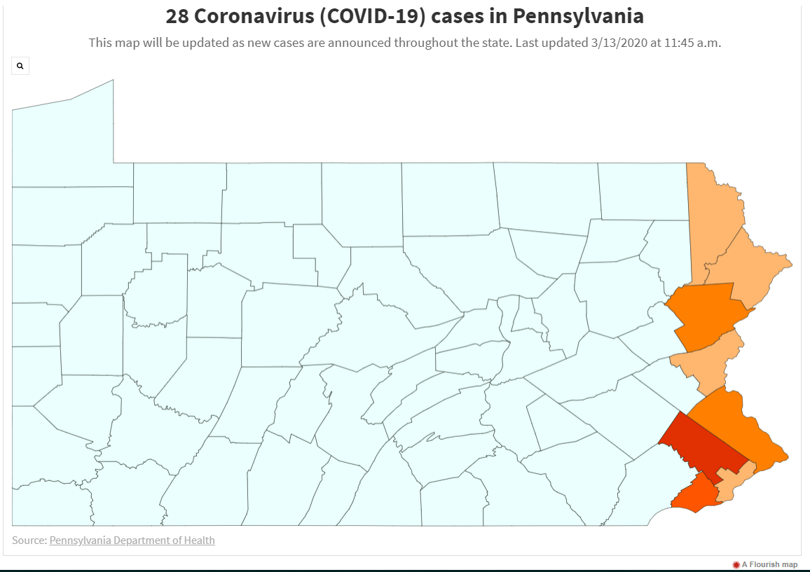 How many COVID-19 cases are in Pa.? 76 Monday afternoon | Local ...