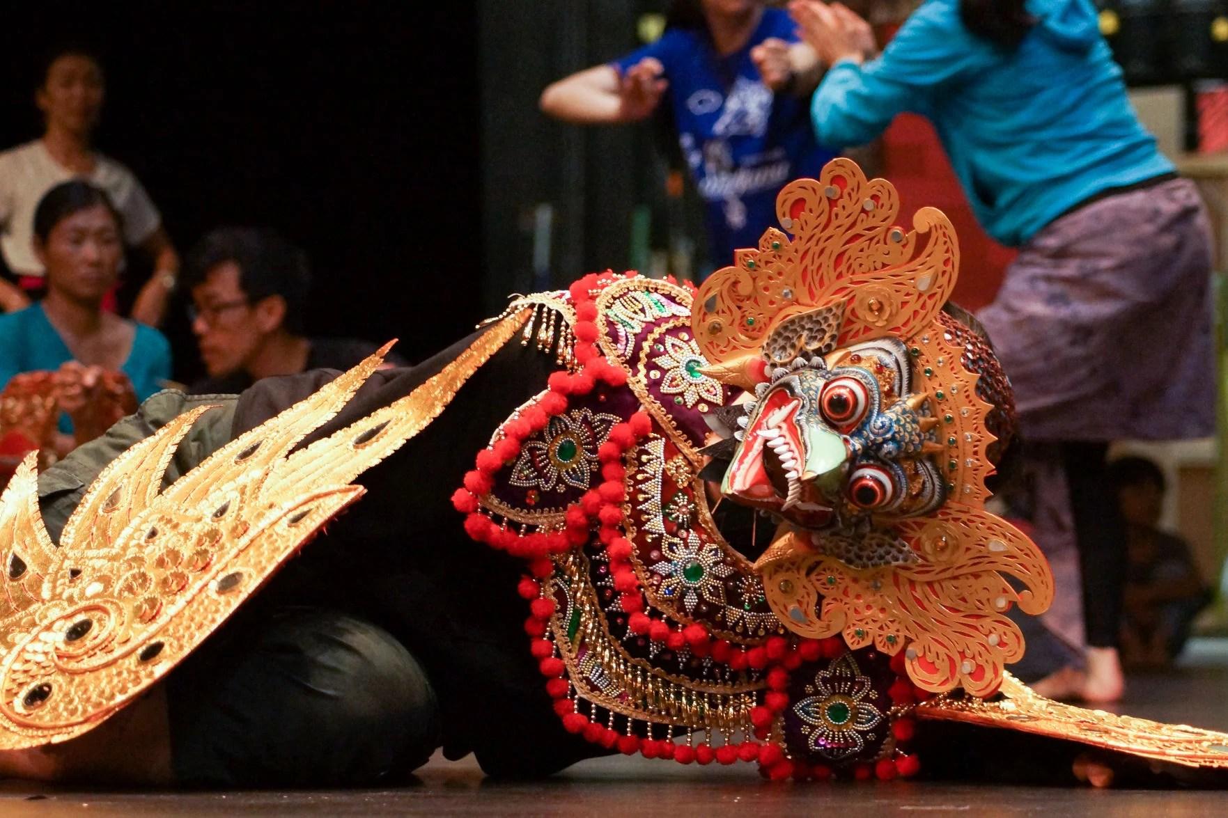 Ramayana performer in partial costume