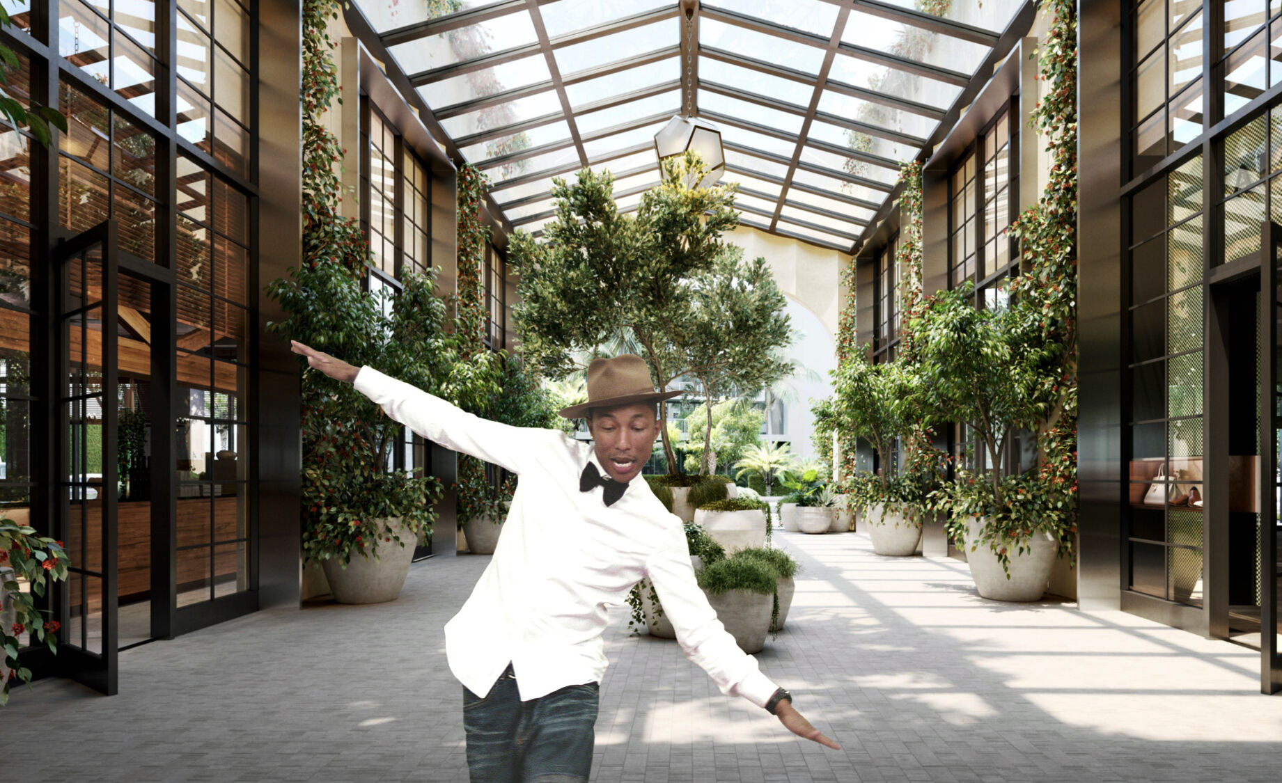"""Happy"" singer Pharrell Williams opens Goodtime Hotel in Miami Beach 4/20/21"