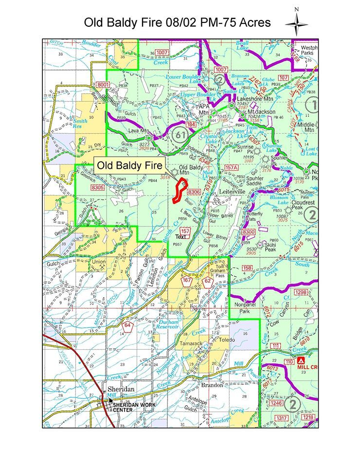 Beaverhead Deerlodge National Forest Map : beaverhead, deerlodge, national, forest, Baldy, Sheridan, Burning, 129-acres,, Contained, Butte, Montanarightnow.com