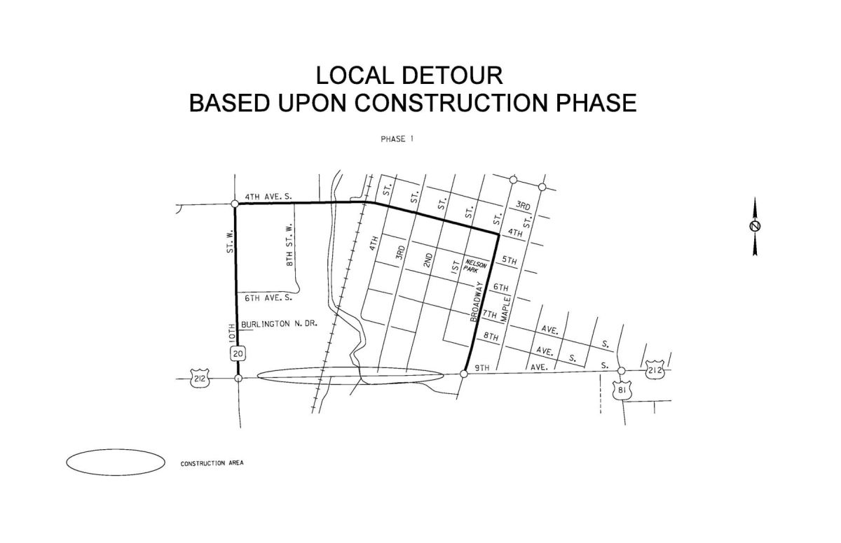 small resolution of phase 1 local detour route jpg