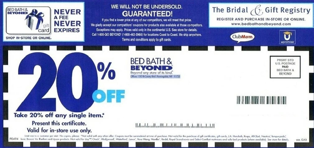 Those 20 Percent Off Coupons Are Squeezing Bed Bath Beyond S Profit Margin Arts And Life Nny360 Com