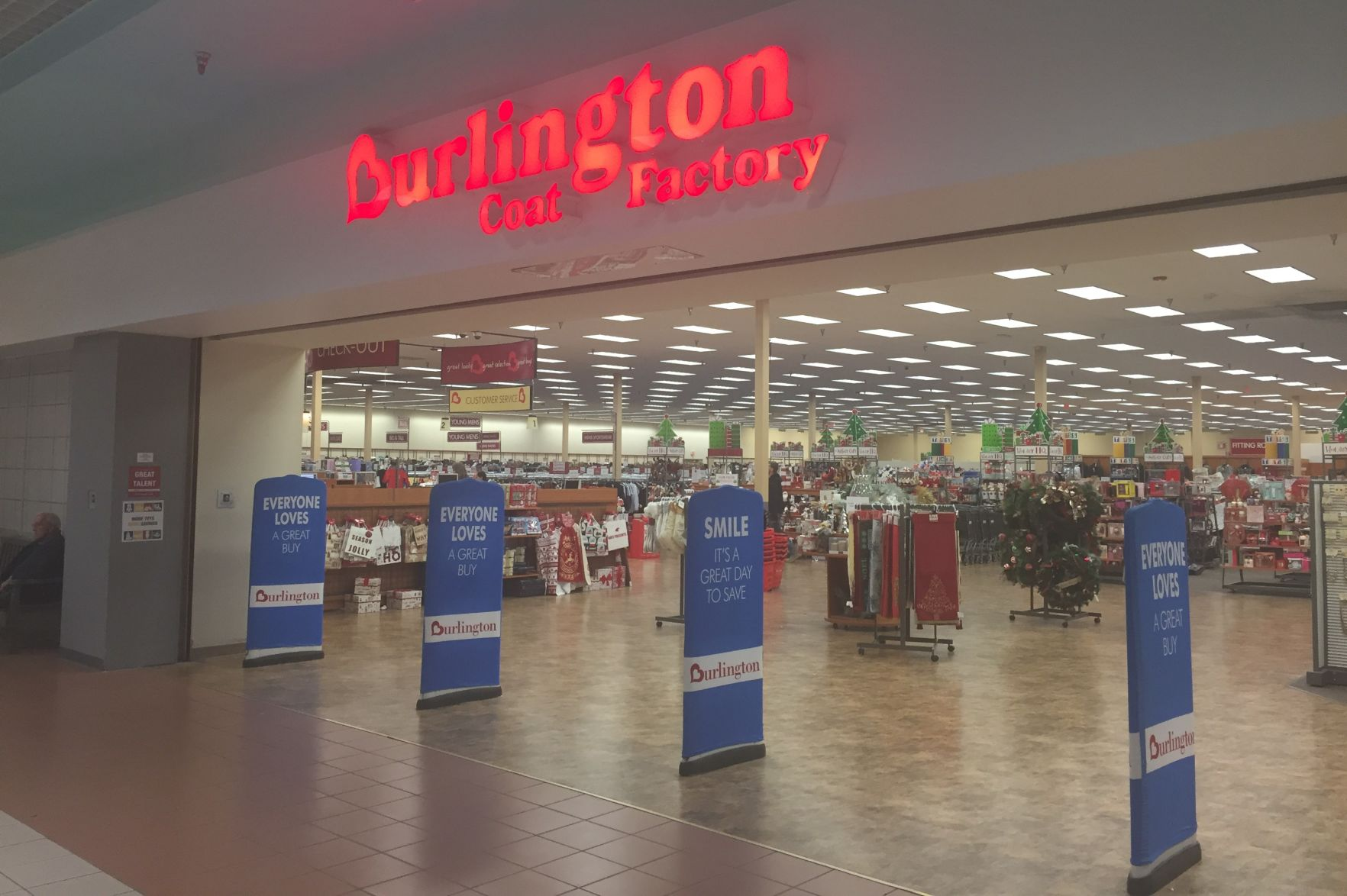 burlington coat factory high chairs bride and groom chair signs to close at uniontown mall local news closing