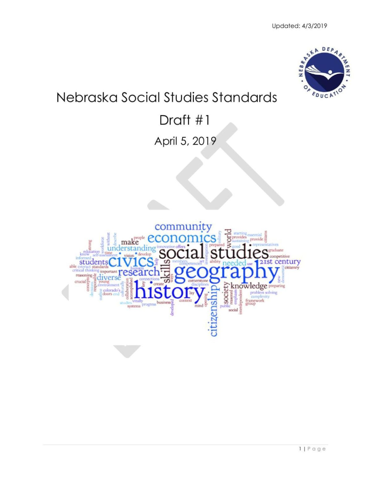 hight resolution of social studies standards revision proposed draft