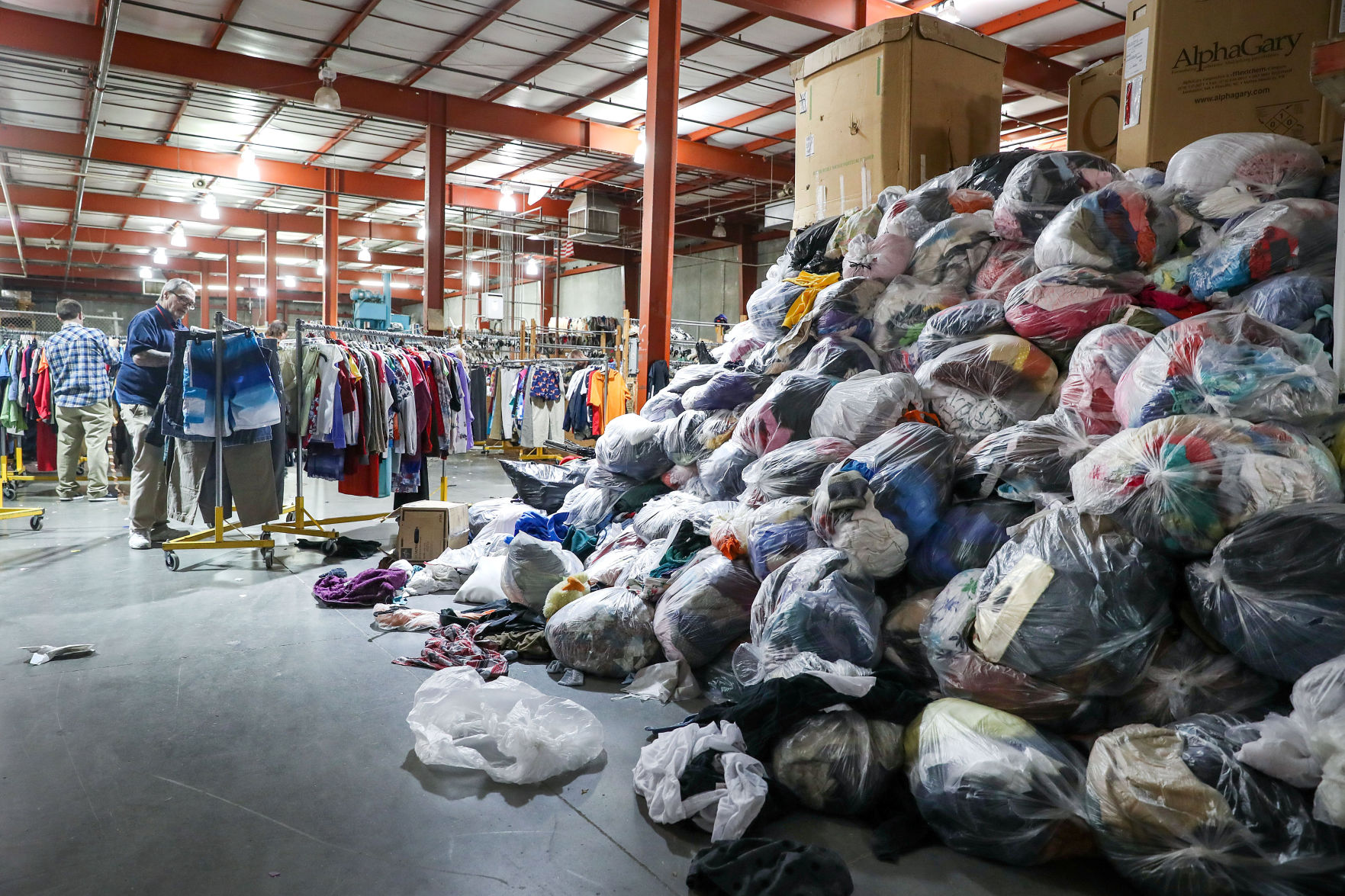 donate sofa in nyc west elm dunham review amid a decline donations to goodwill other thrift