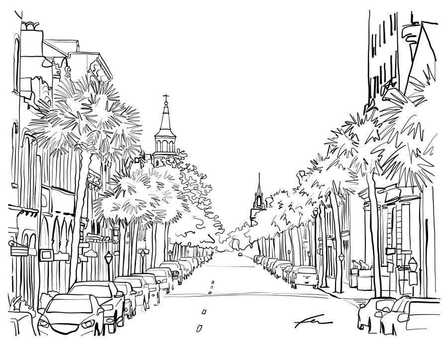 Get your crayons ready for these Charleston coloring pages