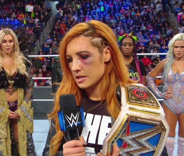 Becky Lynch Announced Tuesday Night On Smackdown That Due To Injuries She Sustained The Previous Night On Raw She Would Not Be Medically Cleared To Fight