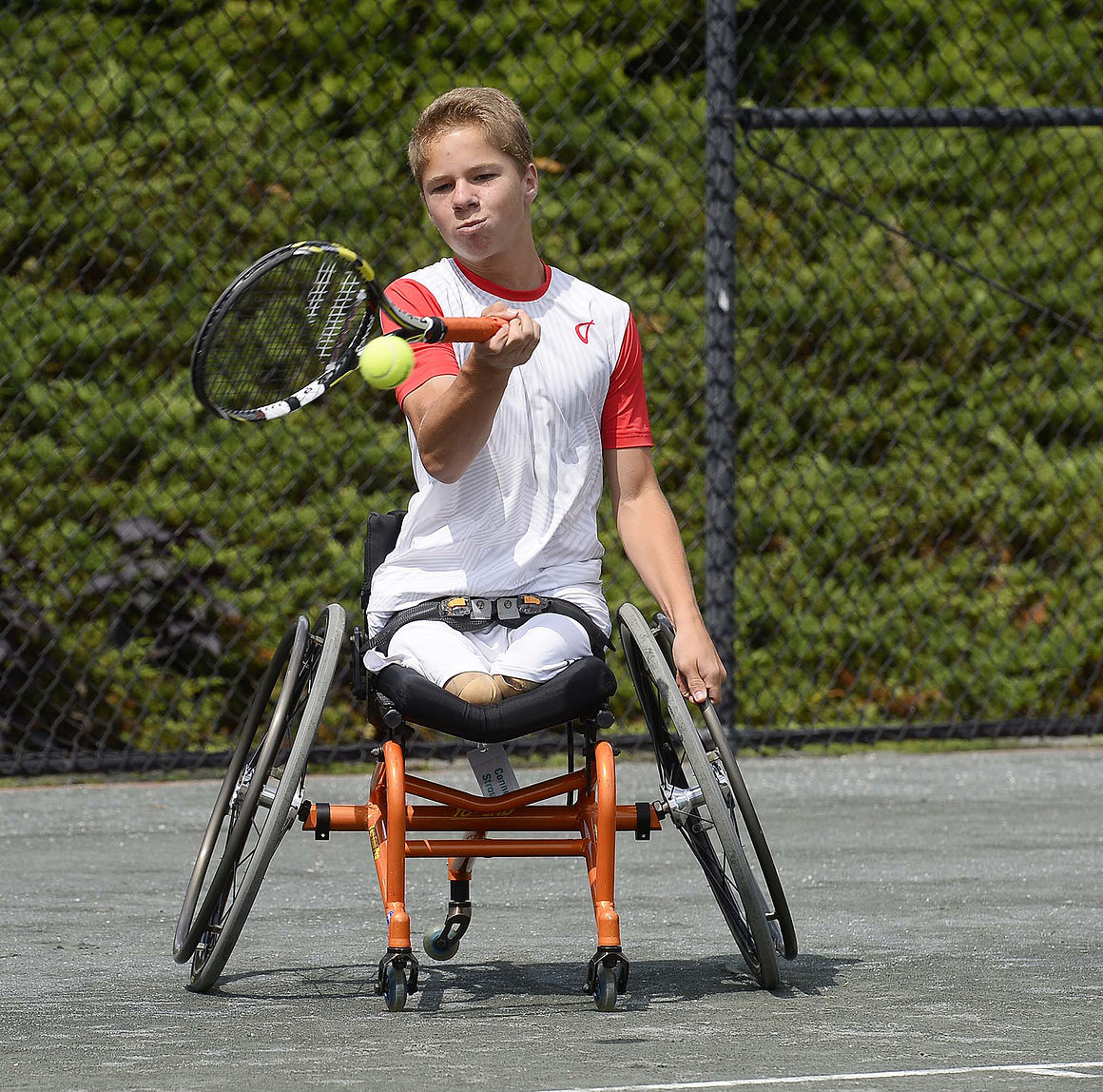 Inspiring teen among world's best wheelchair tennis players