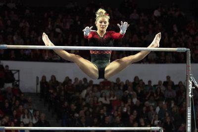 Georgia Gymnastics Falls To Auburn In First Sec Road Test