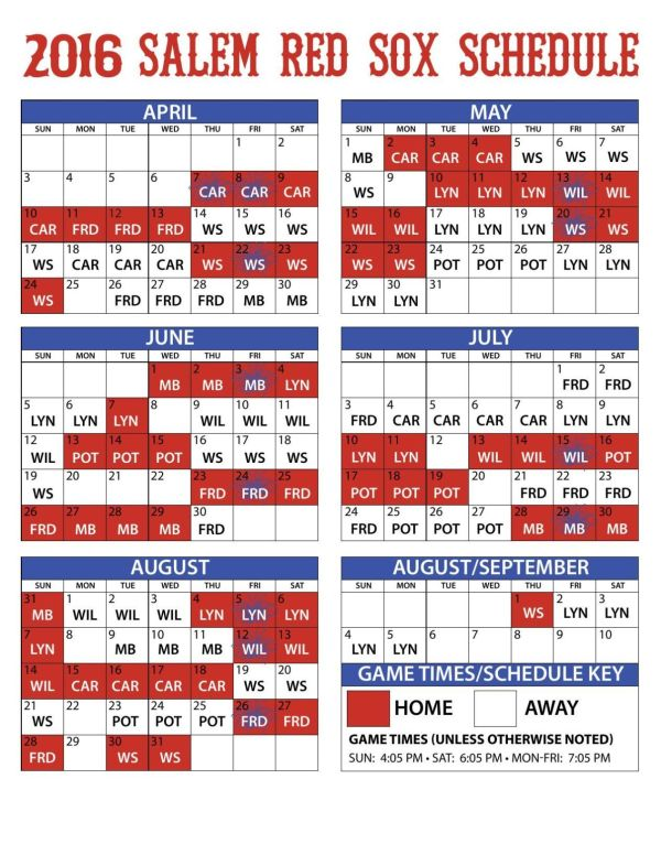 red sox schedule # 49