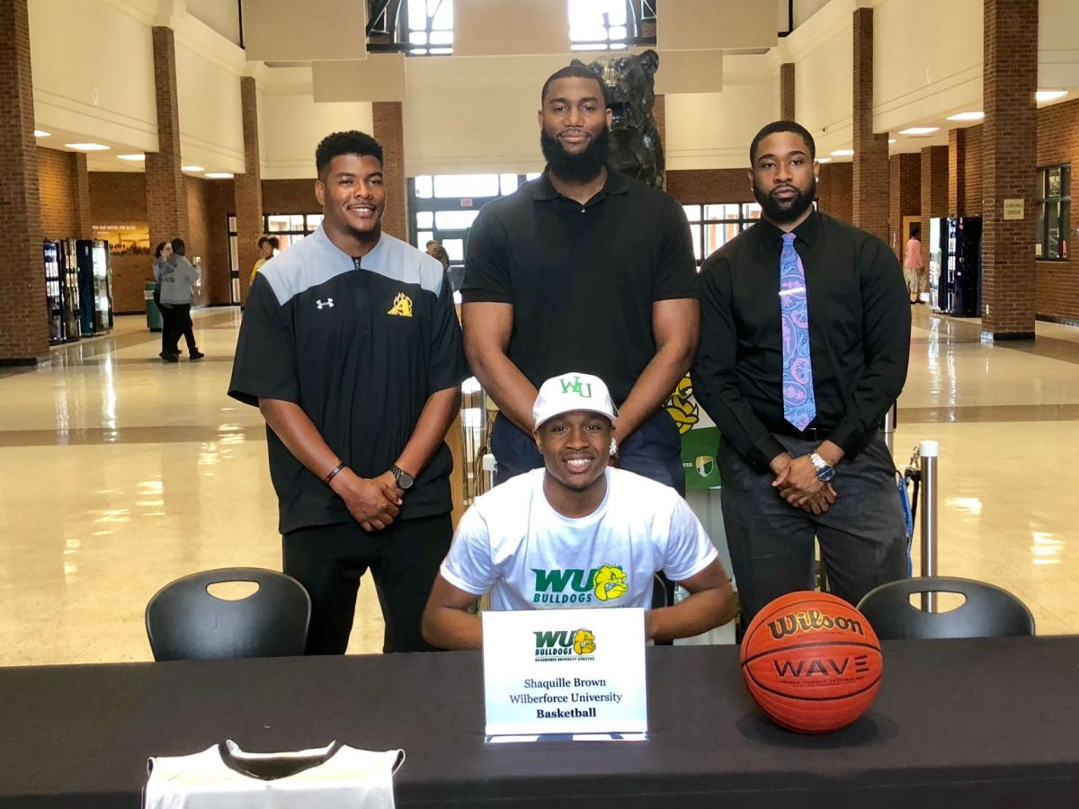 Alcovy's Paschal, Brown Sign Basketball Letters Of Intent To Wilberforce  University