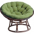 Low classic round papasan chairs are handcrafted of naturalrattan