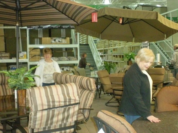 menards patio chairs for one cent oversized sleeper chair and ottoman opens home improvement store in st peters local news from