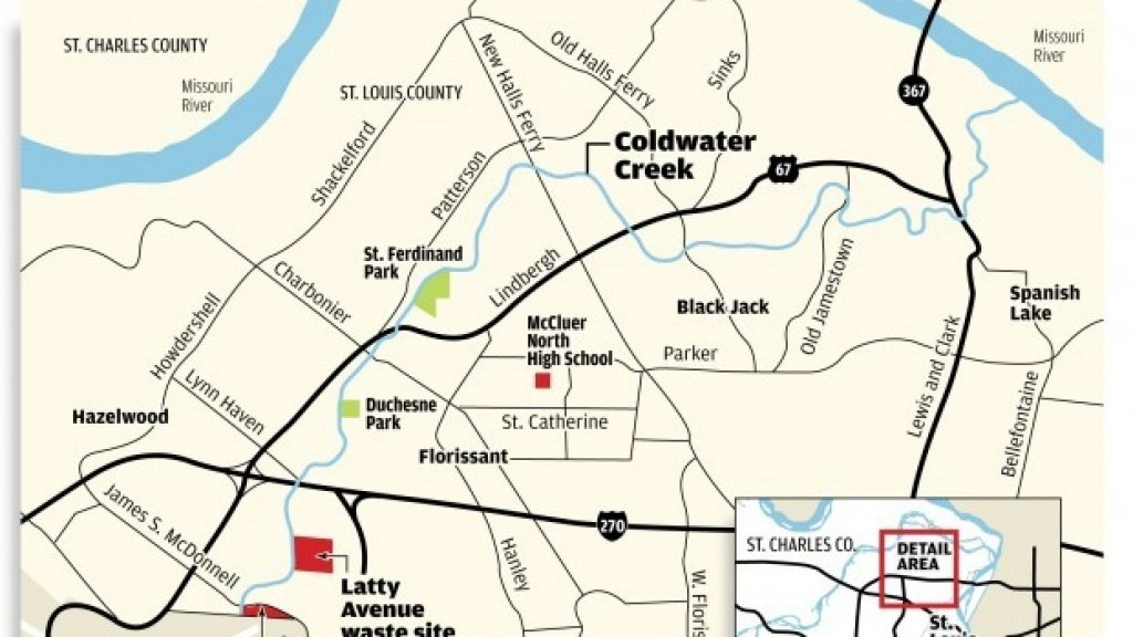 Map Of Coldwater Creek Florissant Mo