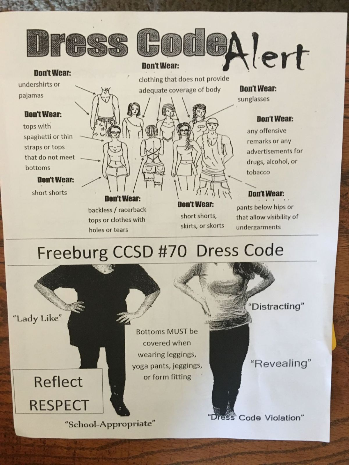 Middle School Dress Code