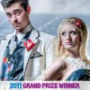 Create a Duck tape prom dress for the 'Stuck at Prom' scholarship
