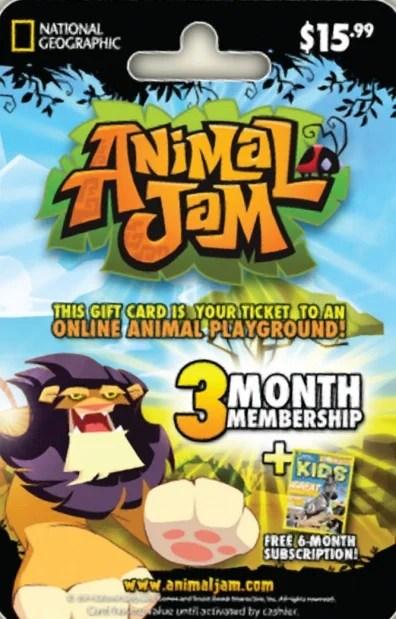 animal jam gift card