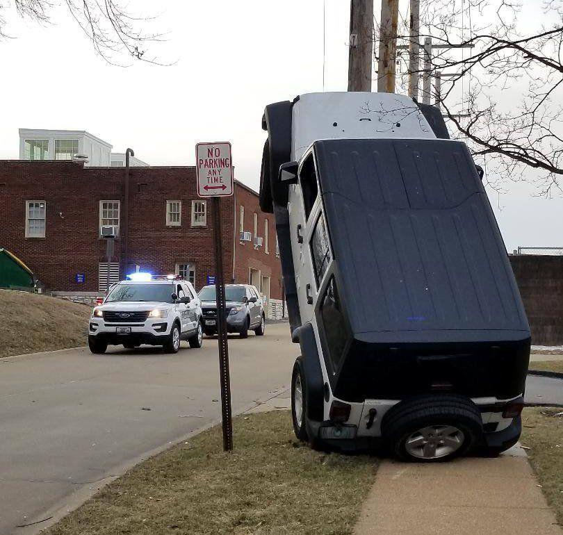 jeep tries to climb