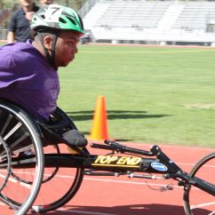 Wheelchair Olympics Wedding Chair Cover Hire Stirling Dutchtown Special Olympian S Racing Exhibited At High School Junior K Von Albert Competes In The Ascension Parish Games On March 2 His Is Featured A