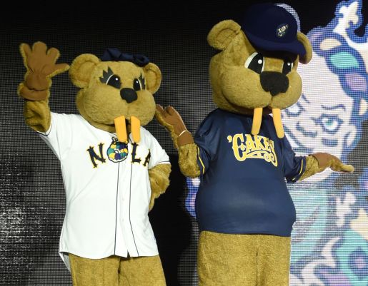 Image result for new orleans baby cakes mascot
