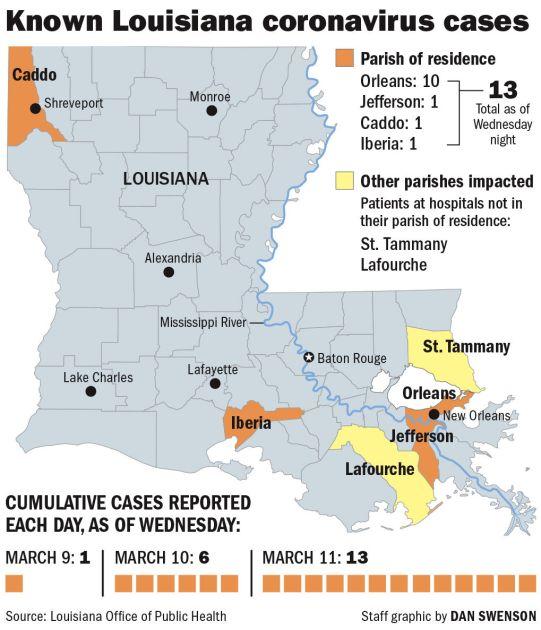 031220 Coronavirus Louisiana parish victims | | theadvocate.com