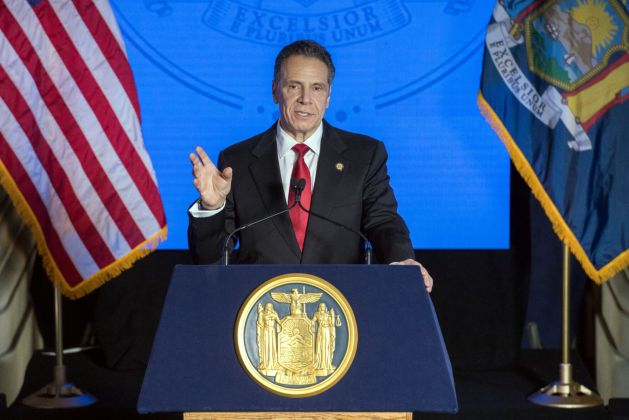 FILE - NY Andrew Cuomo, State of the State, 1-11-2021