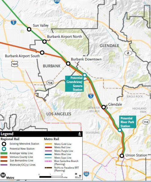 Los Angeles Metrolink Map : angeles, metrolink, Proposed, Metrolink, Stations, Burbank, Cypress, Theeastsiderla.com