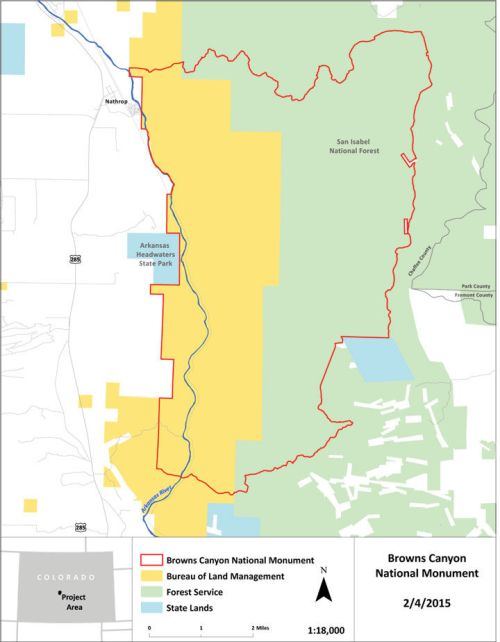 Browns Canyon Map : browns, canyon, National, Monument's, Official, Boundaries, Themountainmail.com