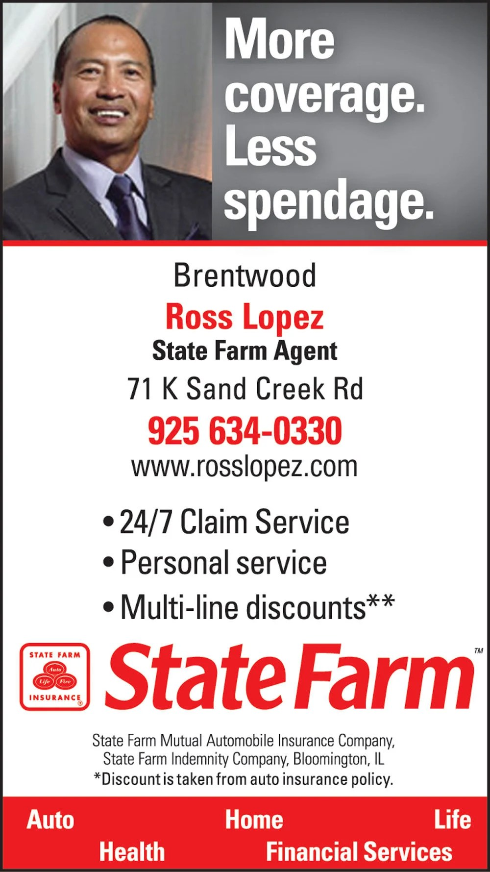 State Farm Insurance Ross Lopez Homeowner Insurance Life Insurance Brentwood Ca Thepress Net