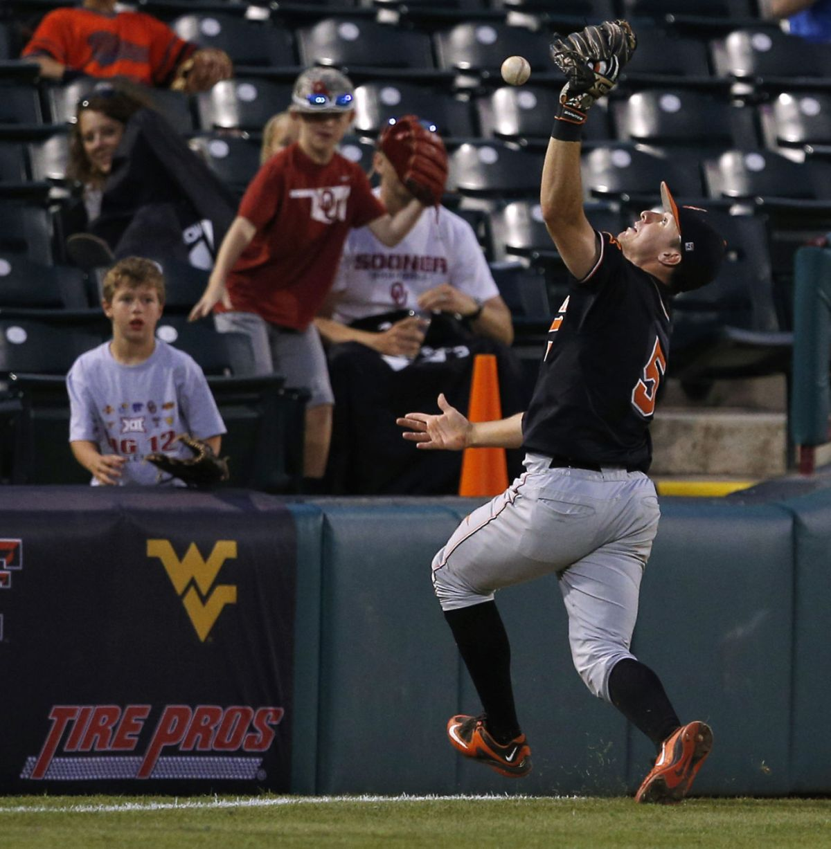 Big 12 Baseball Tournament Texas Erupts 9 Runs In 8th Ousts Osu Sports Extra