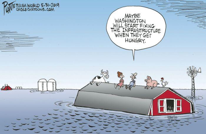 Bruce Plante cartoon: Infrastructure   Columnists   tulsaworld.com