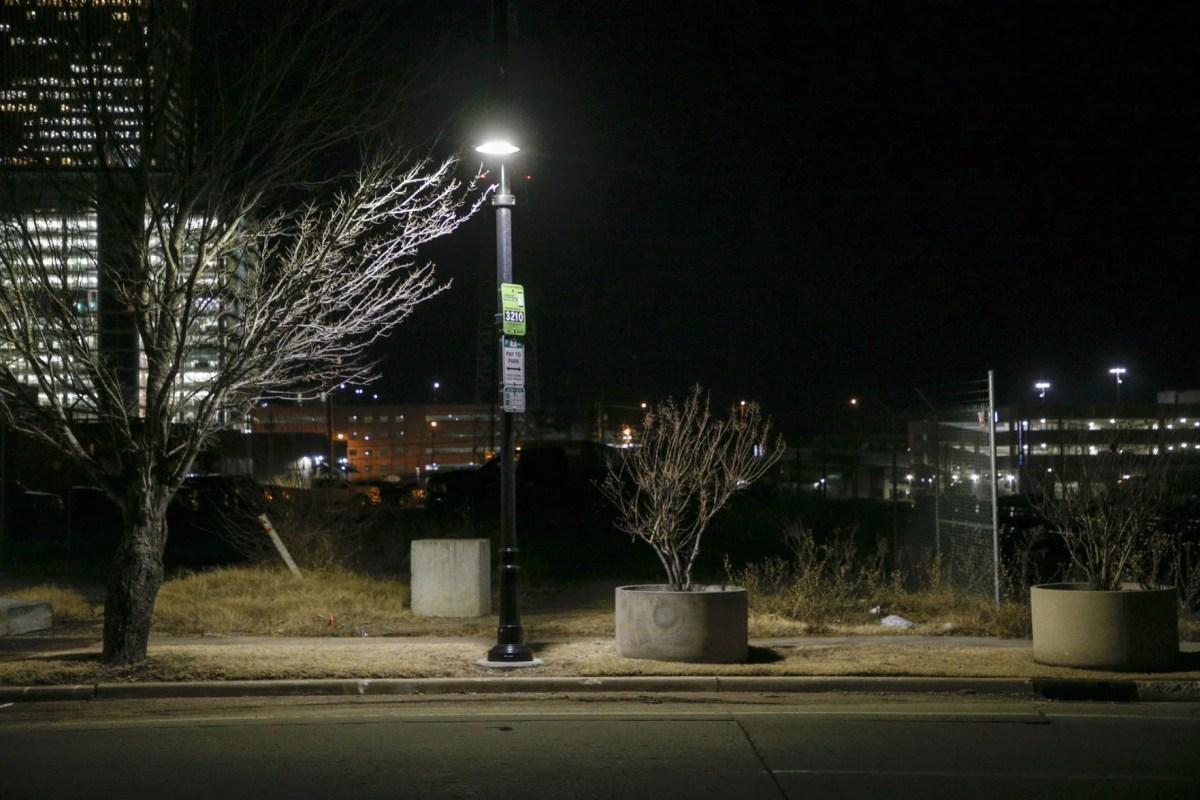 street lights under new city