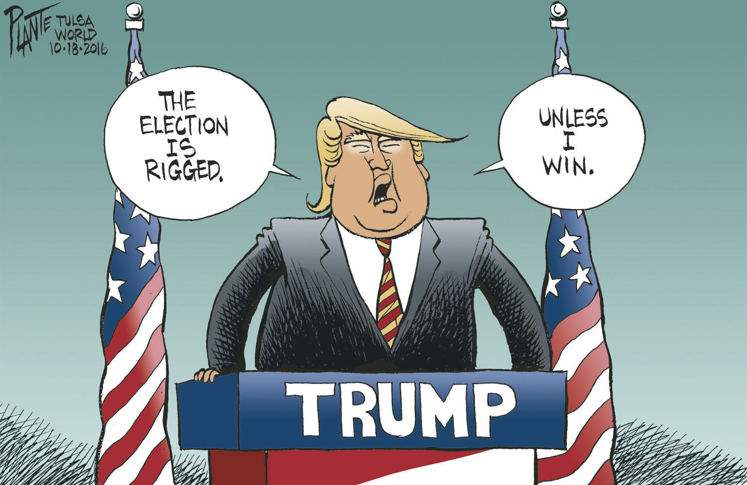 Image result for cartoons trump and rigged vote