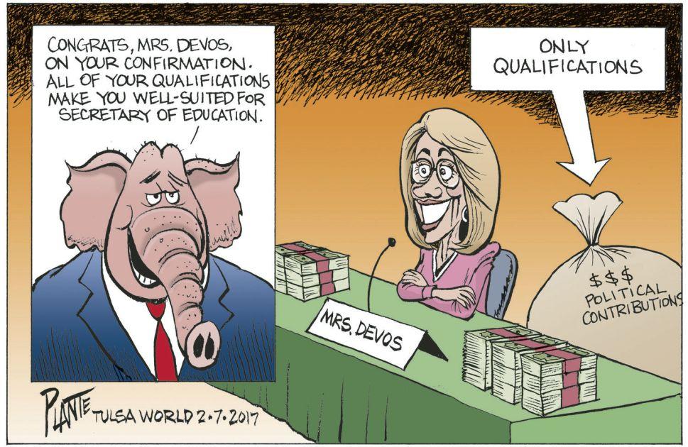 Betsy Devos Political Cartoon