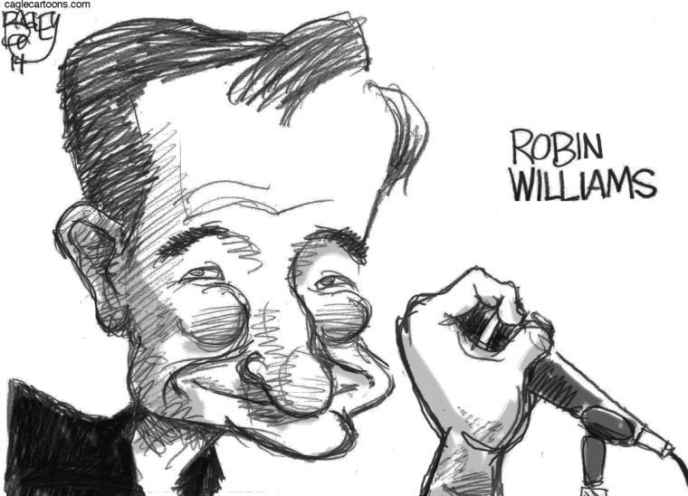 Cartoonists honor Robin Williams: 11 sad cartoons about a