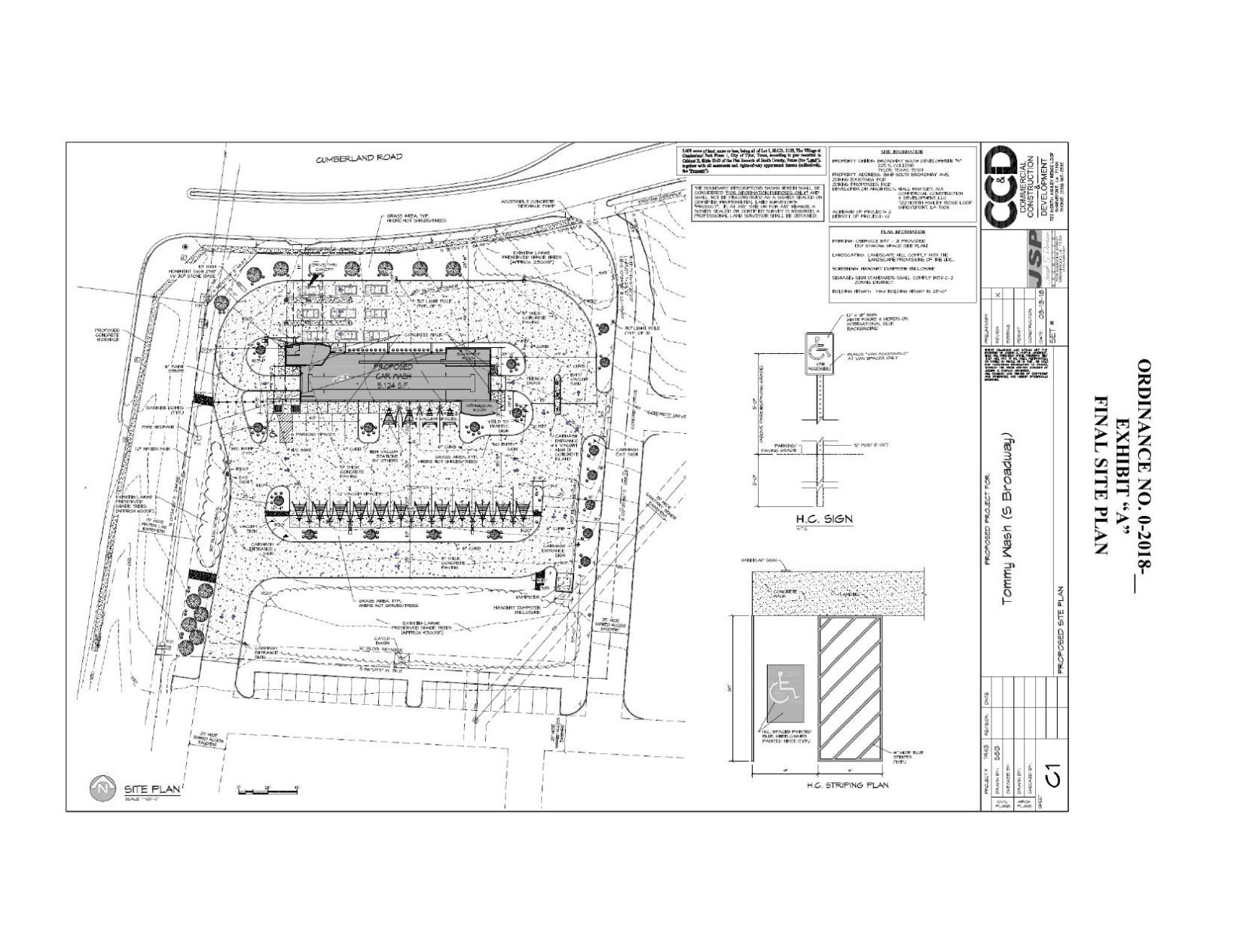download pdf site plan for car wash at cumberland and south broadway [ 1200 x 926 Pixel ]