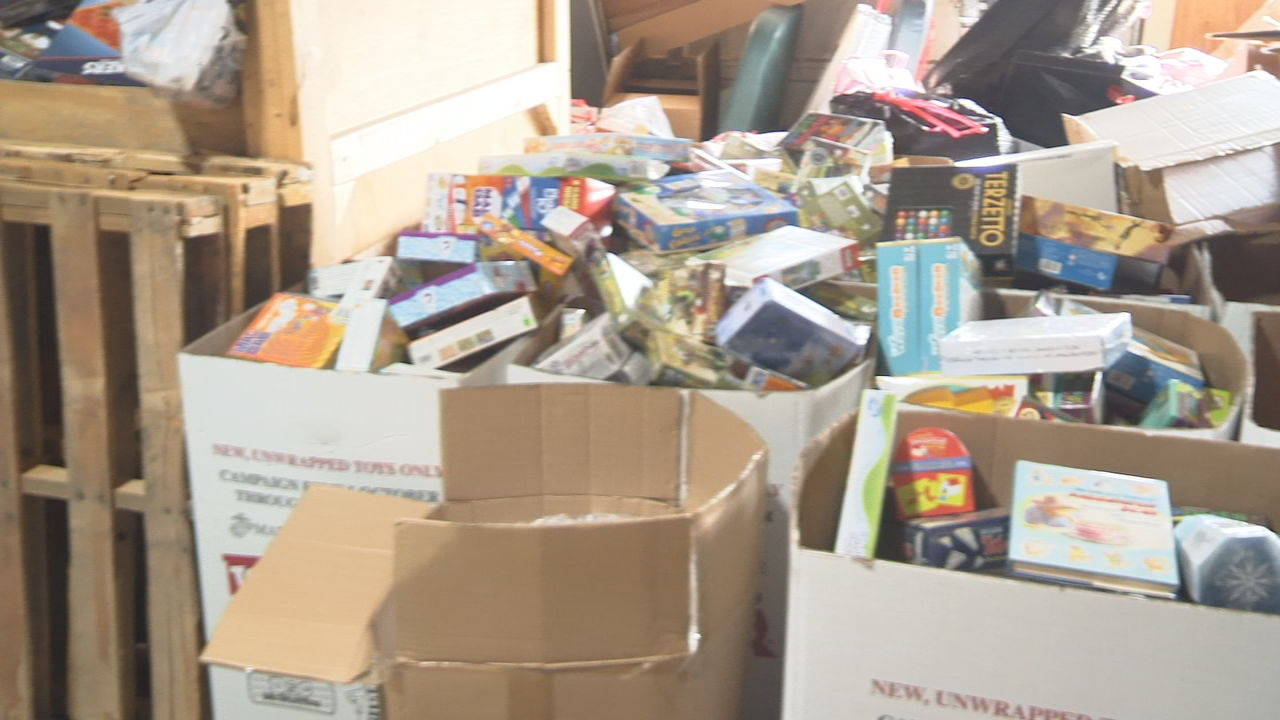 Boxes Of Toys For Tots Donations Head To The Warehouse
