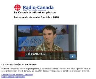 Le Canada à vélo et en photos | RDI en direct / matin week-end