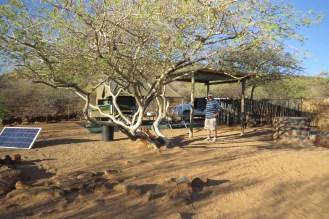Campsite at Erongo Plateau. A bit exposed.