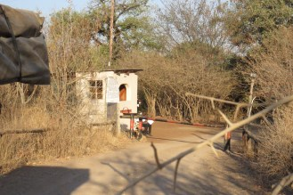Chobe Campsite entrance - rather grubby