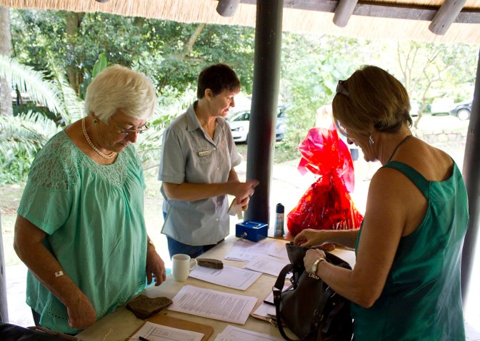 Janet Levy and Fran de Jager registering all for the AGM.
