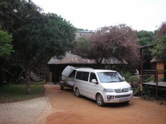 The vehicle in front of our chalets